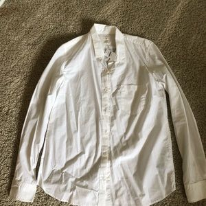 Long sleeve white button up